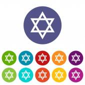 Judaism flat symbol — Stock Vector