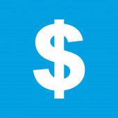 Dollar white icon — Stockvector