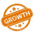 Growth grunge icon — Stock Vector #67419891