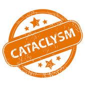 Cataclysm grunge icon — Stock Vector