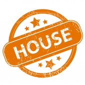 House grunge icon — Stock Vector