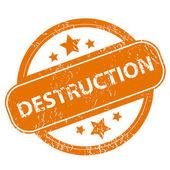 Destruction grunge icon — Stock Vector