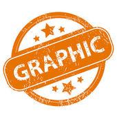 Graphic grunge icon — Stock Vector
