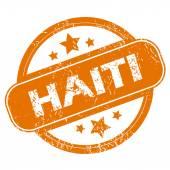 Ícone do grunge de Haiti — Vetor de Stock
