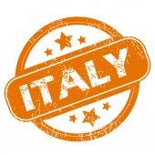 Italy grunge icon — Vetor de Stock