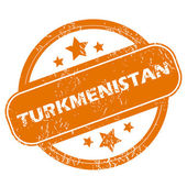 Turkmenistan grunge icon — Stockvector