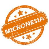 Mikronezya grunge simgesi — Stok Vektör