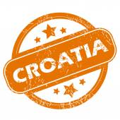 Croatia grunge icon — Vecteur