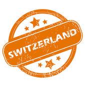 Switzerland grunge icon — Stockvektor