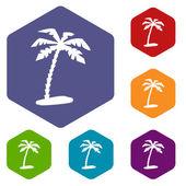 Wyspa romb ikony — Wektor stockowy