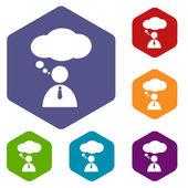 Conversation rhombus icons — Stockvector