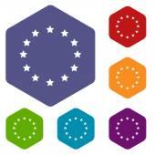 Icone di rombo di Unione europea — Vettoriale Stock