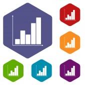 Chart rhombus icons — 图库矢量图片