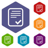 Document rhombus icons — Wektor stockowy