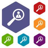 Search rhombus icons — Cтоковый вектор