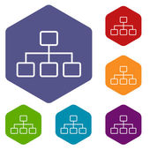 Structure rhombus icons — Stock Vector