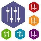 Sound rhombus icons — Stock Vector