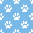 Paw seamless pattern — Stock Vector #68340965