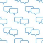 Dialog seamless pattern — Stock Vector