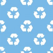 Recycling seamless pattern — Stock Vector