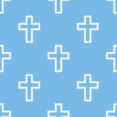 Protestant Cross seamless pattern — Stock Vector