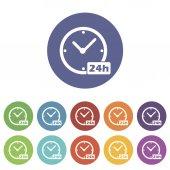 Clock flat icon — Stock Vector