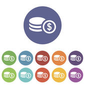 Icono del piso del dinero — Vector de stock
