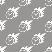 Modello senza cuciture orologio caldo — Vettoriale Stock