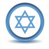 Niebieska ikona judaizmu — Wektor stockowy