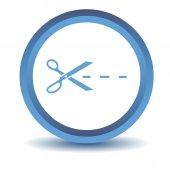 Blue Cut icon — Stock Vector