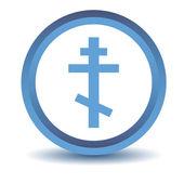 Blue Orthodoxy icon — Stock Vector