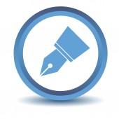 Blue Pen icon — Stock Vector