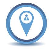 Blue Man pointer icon — Vector de stock