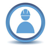 Blue Working icon — Stockvektor