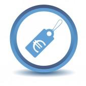 Icône de balise bleue euro — Vecteur