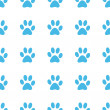 Unique Paw seamless pattern — Stock Vector #69757675