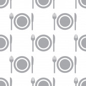 New Plate seamless pattern — Stock Vector