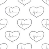 Nuovo modello senza cuciture di battito cardiaco — Vettoriale Stock