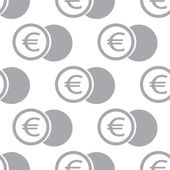 New Euro coin seamless pattern — Stock Vector