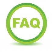 Green faq icon — Stock Vector