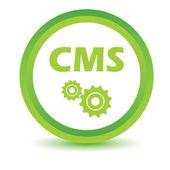 Green cms icon — Stock Vector