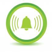 Green alarmclock icon — Stock Vector
