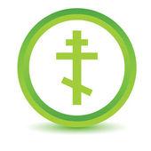 Green Orthodoxy icon — Stock Vector