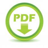 Green Pdf icon — Stock Vector
