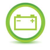 Green Accumulator icon — Stock Vector