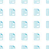 Unique Document seamless pattern — Vetor de Stock