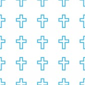 Unique Protestant Cross seamless pattern — Stock Vector