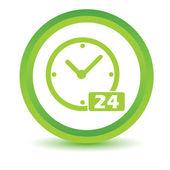 Green Clock icon — Stock Vector