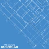 Blueprint best architecture model — Stock Vector