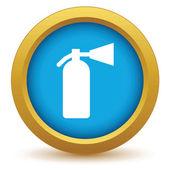 Gold fire extinguisher icon — Stock vektor